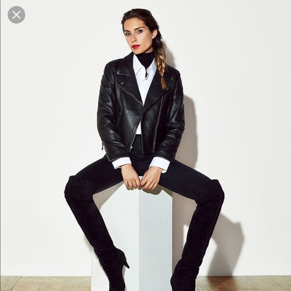 c4c1eb19e ISO ANY black leather jacket from reformation